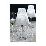 12-piece set wine glass candle lamp shades