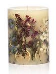 Rosy Rings Roman lavender botanical candle
