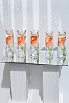 Artificial orange Calla lily & floating candle cylinders - Set of 5