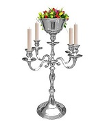 5-arm wedding candelabra centerpieces with flower holders