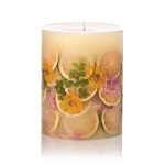 Blossom scented fruit pillar candle