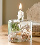 Square seashell oil candle lamp