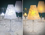 Set of 12 wine glass candle lamp shades