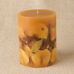 Spicy apple pillar candle