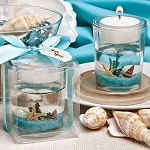Beach themed gel candle favors - Set of 50
