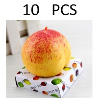 Peach shaped candles - Pack of 10