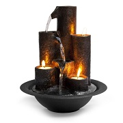 3-candle desktop waterfall fountain