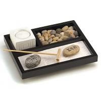 Zen garden candle set