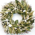 Nantucket starfish beach candle wreath
