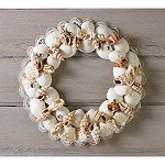 Seashell candle ring wreath