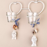 Beach tea light wall sconces