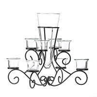8-cup scrollwork vase candle stand