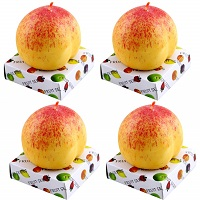 Peach shaped candles - Pack of 4