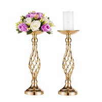 Wedding candle and flower holders - Pair