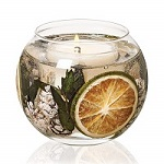 Lime and eucalyptus fishbowl gel candle