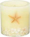 Starfish and shell flameless candle