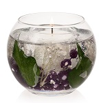 Fish bowl plum and blackberry gel candle