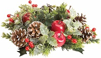8-inch Christmas apple candle wreath