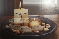 Home Sweet Home candle tray centrepiece