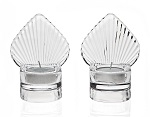 Shell design crystal tea light holders - Set of 2