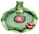 Frogalina ceramic floating candle bath