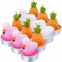 Pineapple and flamingo shaped candles - Set of 12 tealights