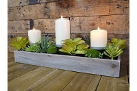 Three candle holder stand with 