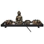 Buddha candle holder and incense set