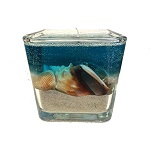 Scented sand and shell gel wax candle