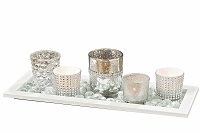 White Nights candle holder centerpiece
