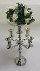 Adaptable event candelabra with removable candle holders