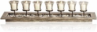 Seven-branched candlestick tray