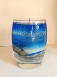 Coconut-scented seascape gel candle