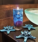7-inch beach gel cylinder candle