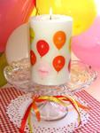 birthday balloons pillar candle centerpiece