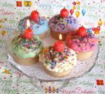 cupcake candles centerpiece