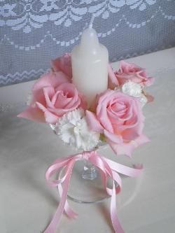 Instructions for candle and flower wineglass arrangements - Centros de mesa con copas ...