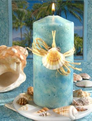 Seashell Centerpieces   Sand and Shell Candle Holders